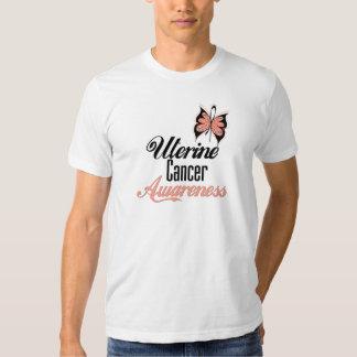 Uterine Cancer Awareness Butterfly T Shirt