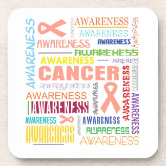Uterine Cancer Awareness Collage Coasters