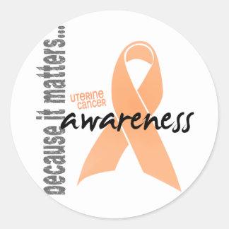 Uterine Cancer Awareness Round Sticker
