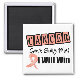 Uterine Cancer Cant Bully Me I Will Win Square Magnet