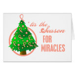 Uterine Cancer Christmas Miracles Greeting Card