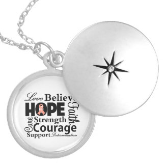 Uterine Cancer Collage of Hope Necklace