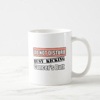 Uterine Cancer Do Not Disturb Kicking Butt Basic White Mug