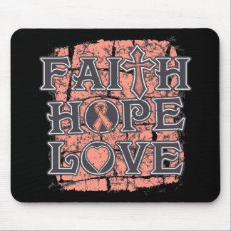 Uterine Cancer Faith Hope Love Mousepad