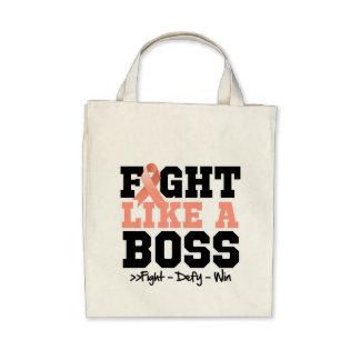 Uterine Cancer Fight Like a Boss Canvas Bag