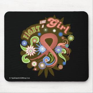 Uterine Cancer Groovy Fight Like A Girl Mousepad