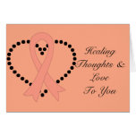 Uterine Cancer Healing Thoughts Greeting Card