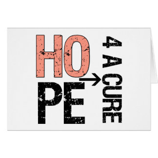 Uterine Cancer Hope For a Cure.png Greeting Card