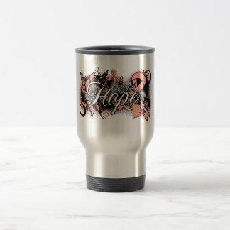 Uterine Cancer Hope Garden Ribbon Coffee Mugs