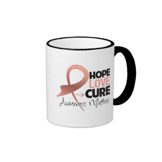 Uterine Cancer Hope Love Cure Mugs