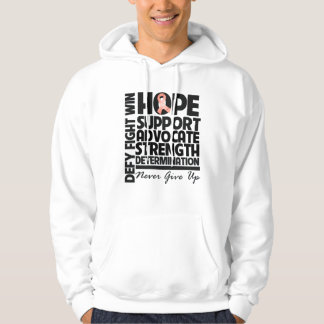 Uterine Cancer Hope Support Advocate Hooded Sweatshirts