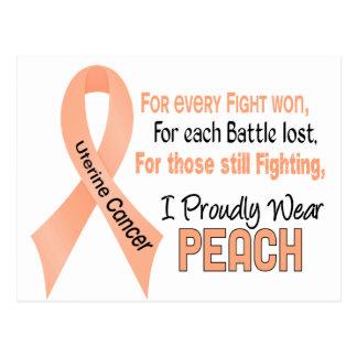 Uterine Cancer I Proudly Wear Peach 1 Postcard