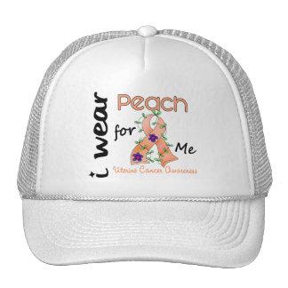 Uterine Cancer I Wear Peach For ME 43 Trucker Hat