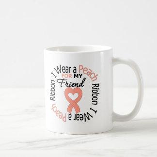 Uterine Cancer I Wear Peach Ribbon For My Friend Mug