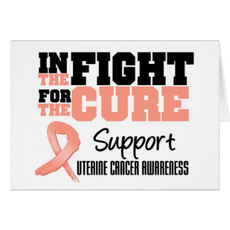 Uterine Cancer In The Fight For The Cure Greeting Card
