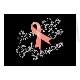 Uterine Cancer Love Hope Determination Greeting Card