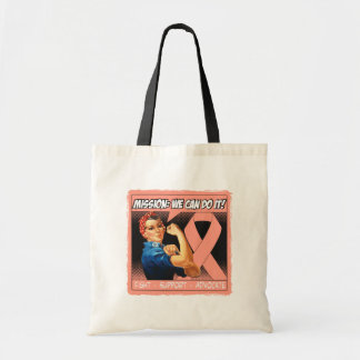 Uterine Cancer Mission We Can Do It Canvas Bags