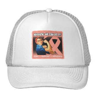 Uterine Cancer Mission We Can Do It Mesh Hats