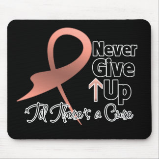 Uterine Cancer Never Give Up Mousepads