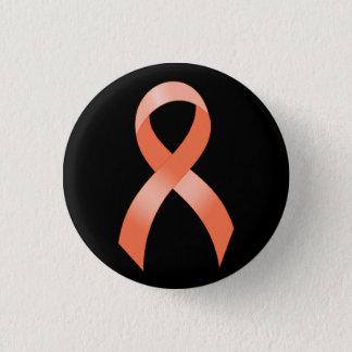 Uterine Cancer Peach Ribbon 3 Cm Round Badge