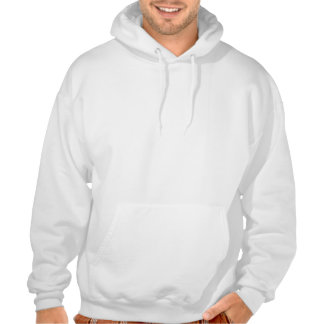 Uterine Cancer Peach Ribbon With Scribble Hooded Sweatshirts