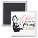 Uterine Cancer Picked The Wrong Diva Square Magnet