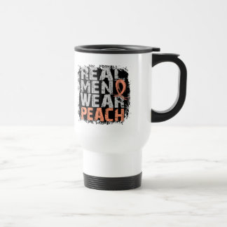 Uterine Cancer Real Men Wear Peach Mug