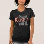 Uterine Cancer Ribbon - Fight Like a Girl Shirt