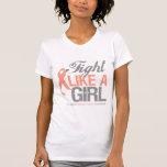 Uterine Cancer Ribbon - Fight Like a Girl Tee Shirts