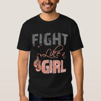 Uterine Cancer Ribbon Gloves Fight Like a Girl Tees