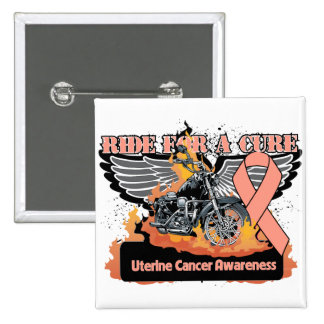 Uterine Cancer Ride For a Cure 15 Cm Square Badge