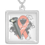 Uterine Cancer - Screw Cancer Custom Necklace