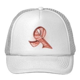 Uterine Cancer Slogan Watermark Ribbon Trucker Hat