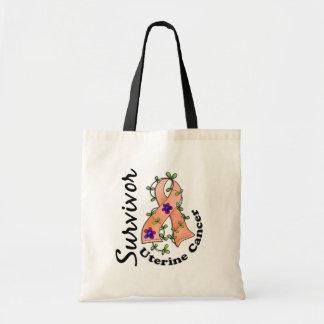 Uterine Cancer Survivor 15 Budget Tote Bag
