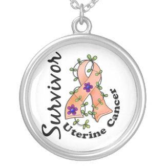 Uterine Cancer Survivor 15 Round Pendant Necklace
