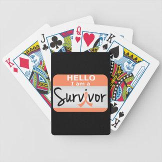 Uterine Cancer Survivor 24 Bicycle Poker Cards