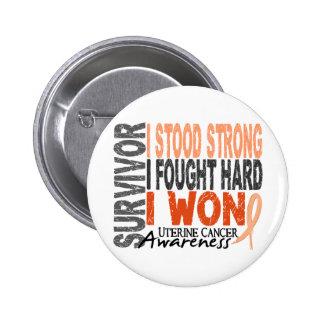 Uterine Cancer Survivor 4 6 Cm Round Badge