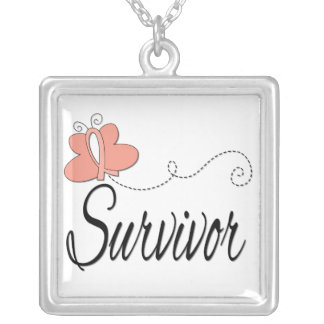 Uterine Cancer Survivor Butterfly Ribbon Custom Jewelry