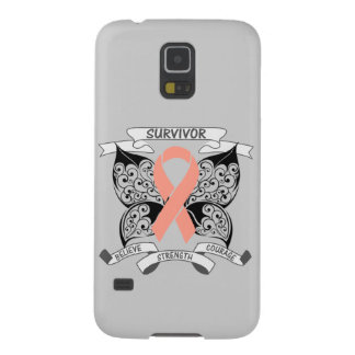 Uterine Cancer Survivor Butterfly Strength Galaxy S5 Covers