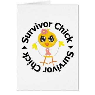 Uterine Cancer Survivor Chick Greeting Card