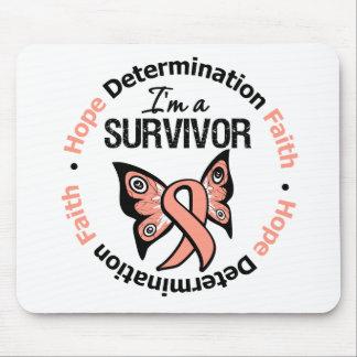 Uterine Cancer Survivor Hope Determination Faith Mouse Pad