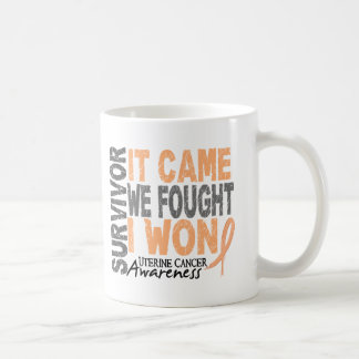 Uterine Cancer Survivor It Came We Fought I Won Coffee Mugs