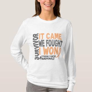 Uterine Cancer Survivor It Came We Fought I Won T-Shirt