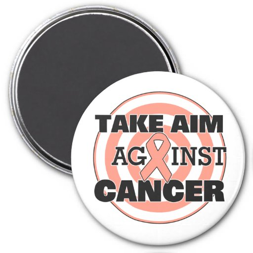 Uterine Cancer Take Aim Against Cancer Refrigerator Magnets