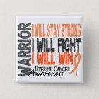 Uterine Cancer Warrior 15 Cm Square Badge
