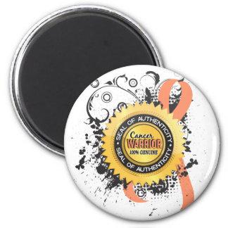 Uterine Cancer Warrior 23 6 Cm Round Magnet