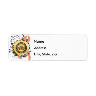 Uterine Cancer Warrior 23 Return Address Label