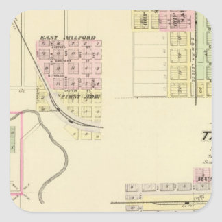 Utica and Milford , Nebraska Square Sticker