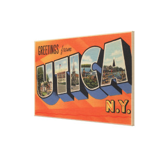 Utica, New YorkLarge Letter ScenesUtica, NY Gallery Wrapped Canvas