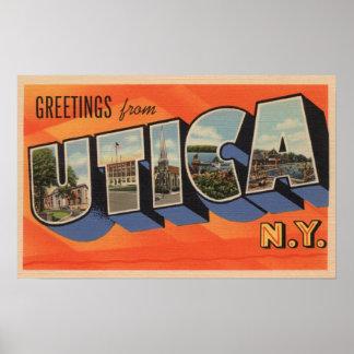 Utica New YorkLarge Letter ScenesUtica NY Print